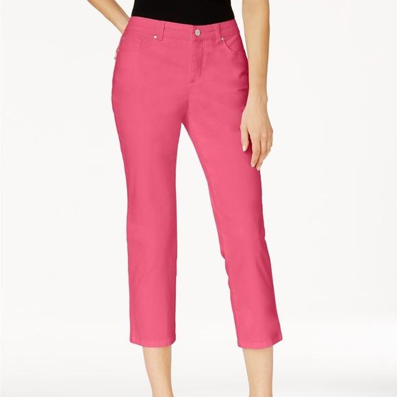 a27858a3495 Charter Club Size 18 Pink Bristol Capri Jeans